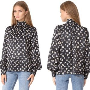 Marc Jacobs Bishop Sleeve Silk Blouse size 12
